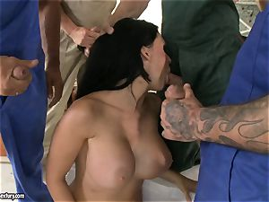 ultra-kinky paramour Aletta Ocean takes one shaft at a time dipping super-hot in her jaws