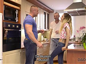 DADDY4K. Mature man pokes lean stunner in old and young pornography vid