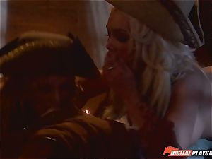Pirate tucks his stiff meat sword into Devon and Teagan Presley