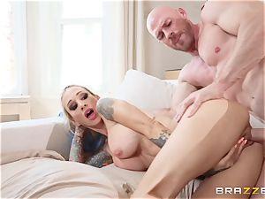 manhood greedy ash-blonde Sarah Jessie