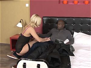 Invited a stranger cuckold trainer to ravage ash-blonde wife