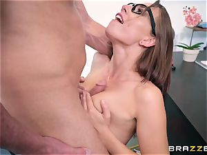 Impudent teacher nails his unruly pupil Aidra Fox during the test