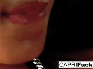 Capri Plays With Her moist vag And awesome bumpers