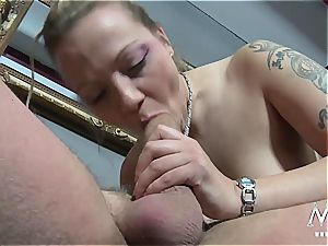 Germans are always the naughtiest with mass ejaculation and orgies