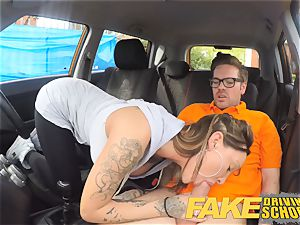 faux Driving college Advanced ultra-kinky lesson in creampie