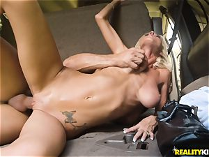 Olivia Blu picked up and porked on the backseat