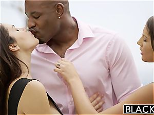 BLACKED August Ames and Valentina Nappi Share big black cock