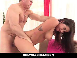 SheWillCheat cheating gf Karlee Grey pokes Trainer