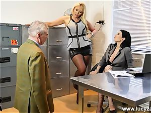 fabulous bosses turn office freak into foot worship gimp