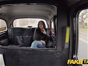 fake taxi scorching Latina with humungous fun bags and booty