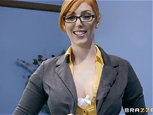 cock thirsty Lauren Phillips torn up in her ginger vulva