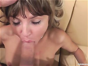 Gina Gerson loves getting her face sprayed with jizz