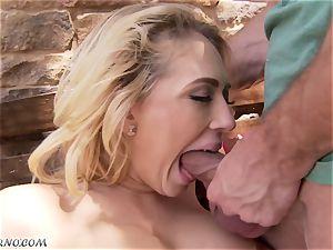 lustful huge-titted blond Kagney Linn Karter gets poked outdoor