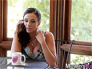 girly-girl mommy and stepdaughter scissoring