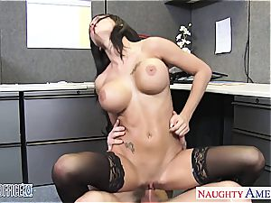 perfect Peta Jensen crazy for his thick manhood at the office