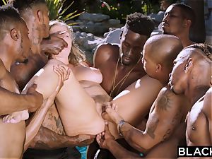 BLACKED Lena Paul first-ever interracial gangbang
