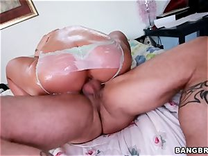 curvaceous ash-blonde Phoenix Marie humped from the rear