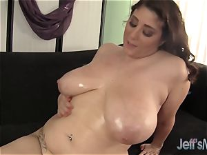 massive melon bbw smashes a fellow with Her boobs and pussy