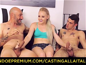 CASTNG ALLA ITALIANA - blondie vixen rough dp orgy