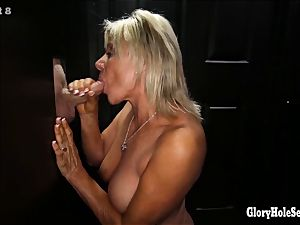 experienced knob dicksuckers inhaling off strangers in gloryhole