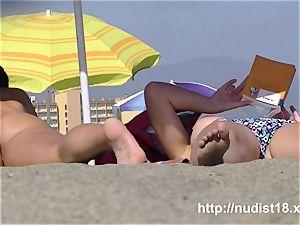 nudist beach hidden cam flick