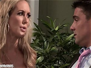 Mature chick Brandi love loves young folks and sex with them