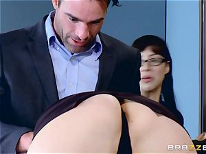 Chanel Preston blowing on Charles Deras hefty pecker