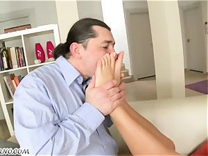 A married man drills his domme in the caboose