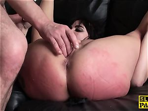 Bigtitted british slave abjected by maledom