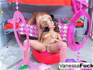 big-titted Natasha super-cute ravages Vanessa box