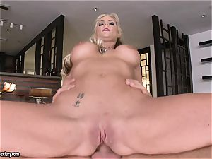 rectal lover Phoenix Marie bounces her donk on a enormous pipe